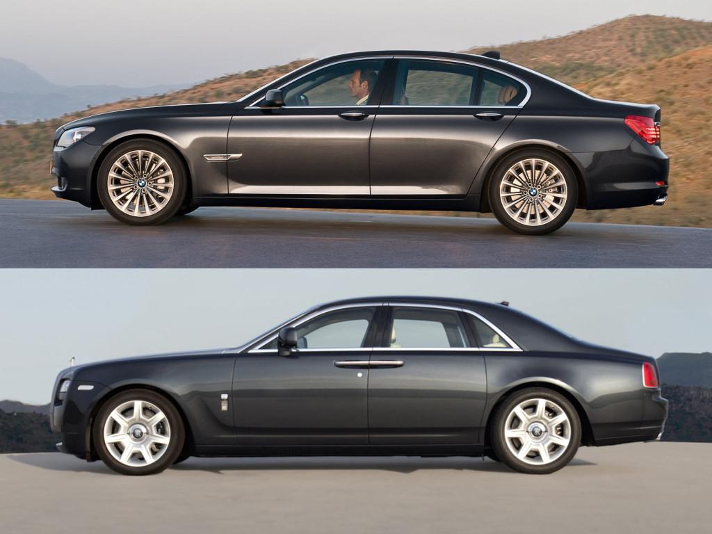 Rolls Royce Ghost vs BMW 7er F01
